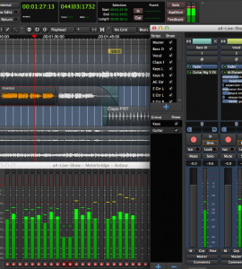 Ardour, a digital audio workstation (courtesy: Ardour)