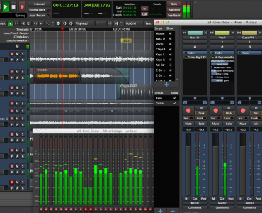 Ardour, a digital audio workstation (courtesy: Ardour)