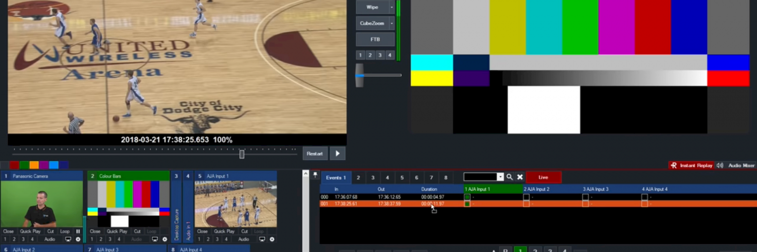 vMix live video production software